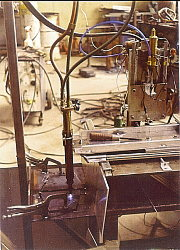 Computer controlled flame cutting 1983