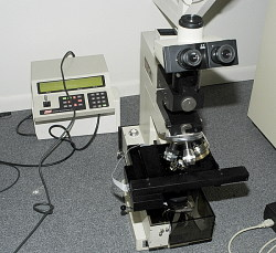 Infrared microscope for micro analysis.
